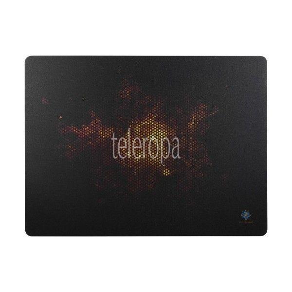 DELTACO GAMING Hard Surface Gaming Mousepad schwarz/Feuermotiv-Mauspad Mausmatte