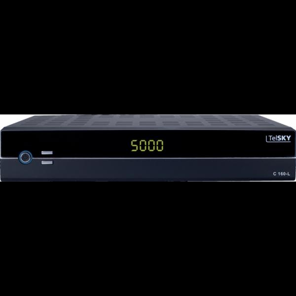 TelSKY C 160-L Digitaler Kabelreceiver (Display, SCART, USB 2.0) schwarz (Zertifiziert und Generalüberholt) Bild1