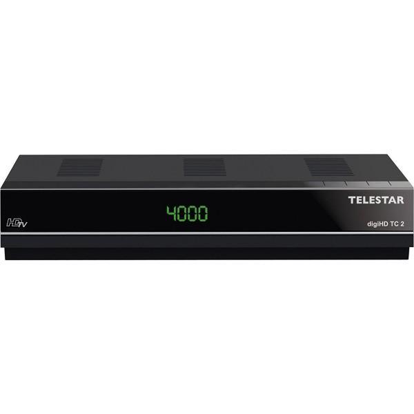 TELESTAR digiHD TC 2 HDTV Kabel Receiver (Display, Conax Kartenleser, HDMI, Audio/Video Cinch, Scart Adapter, USB, Internetportalfunktion, Mediaplayer) schwarz (Zertifiziert und Generalüberholt) Bild1