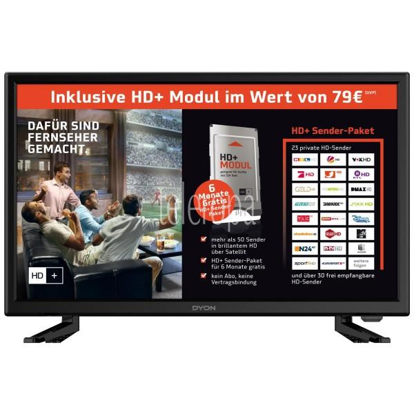 DYON Live 22 54,6cm (21,5 Zoll) Pro HD+ Edition inkl. HD+ Karte LED TV mit HD Triple Tuner (DVB-T2 H.265/HEVC, DVB-S2, DVB-C, USB, CI+, Energieeffizienzklasse A) Bild 1