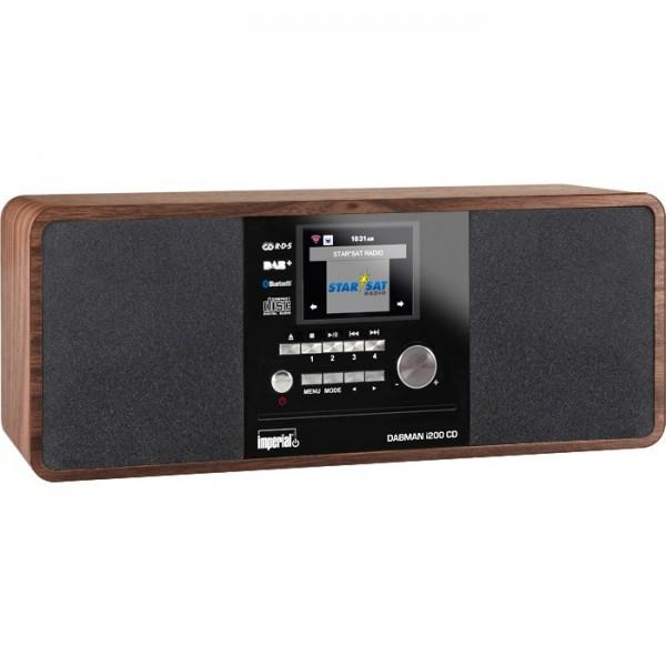IMPERIAL DABMAN i200 CD Internet-/DAB+ Radio mit CD-Player (Stereo Sound, UKW, WLAN, Aux In, Line-Out, Kopfhörer Ausgang, Inklusiv Netzteil) (Zertifiziert und Generalüberholt) Bild2