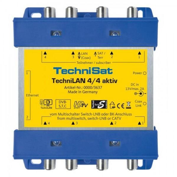 TechniLAN 4/4 aktiv Koax-Heimnetzwerk-Einschleuseweiche