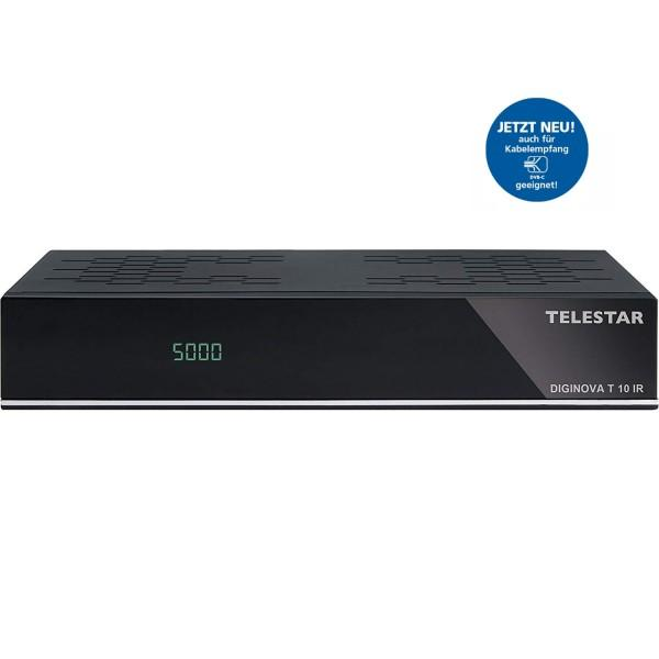 TELESTAR Diginova T10 IR DVB-T2 HD und DVB-C Receiver (Freenet TV, HEVC, HDMI, Scart, USB, LAN)