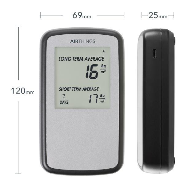 AIRTHINGS Home Digital Radon Detector / Messgerät mit Display Bild4