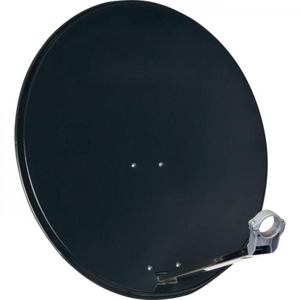 Satellitenschüssel 80 cm aus Aluminium grau / Sat-Antenne