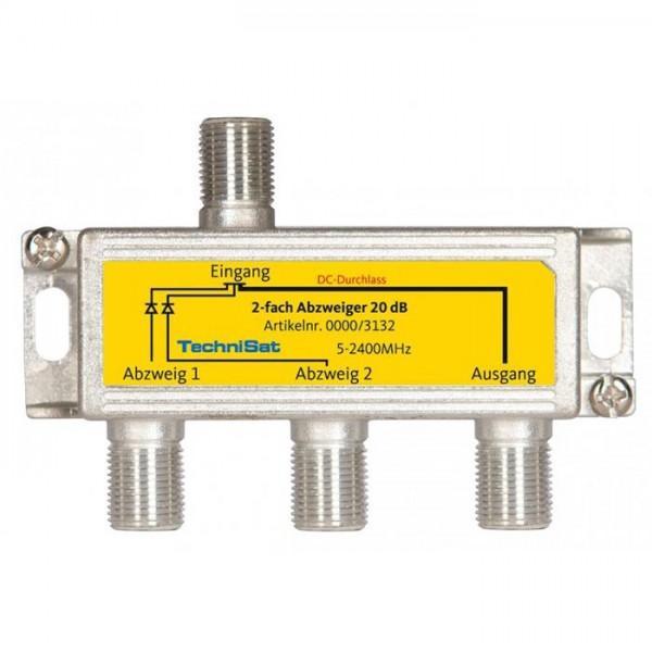 2fach Sat-Abzweiger 20 dB, Diodenentkoppelt