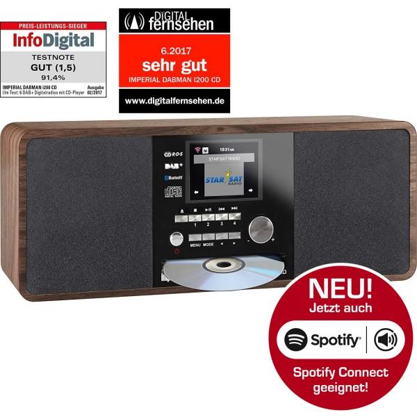 IMPERIAL DABMAN i200 CD Internet-/DAB+ Radio mit CD-Player (Stereo Sound, UKW, WLAN, Aux In, Line-Out, Kopfhörer Ausgang, Inklusiv Netzteil) (Zertifiziert und Generalüberholt) Bild21