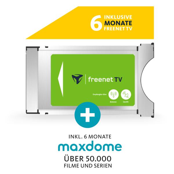 freenet TV ENTERTAINMENT CI+ Modul Paket mit 6 Monaten freenet TV und 6 Monaten maxdome Bild2